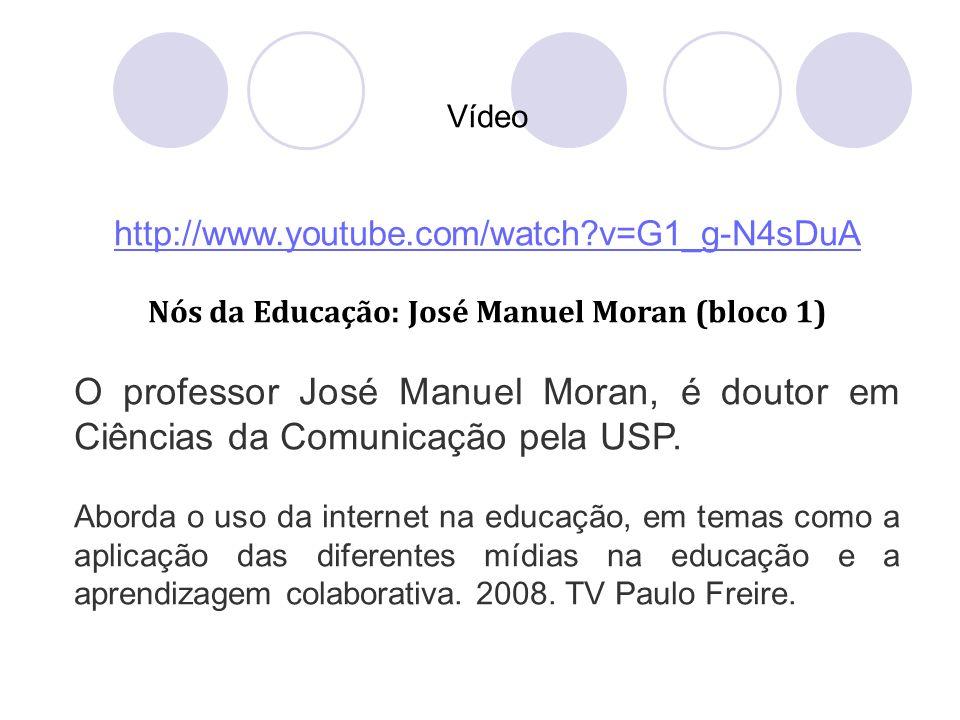 Nós da Educação: José Manuel Moran (bloco 1)