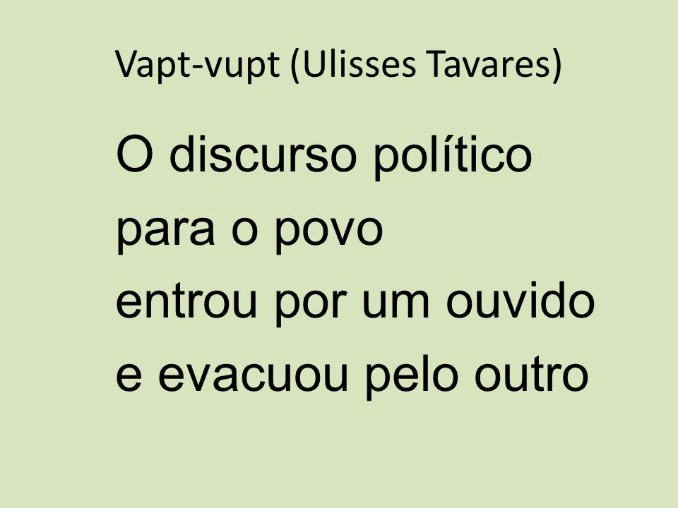 Vapt-vupt (Ulisses Tavares)