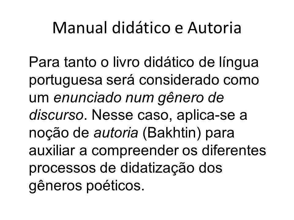 Manual didático e Autoria