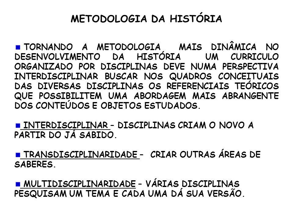 METODOLOGIA DA HISTÓRIA