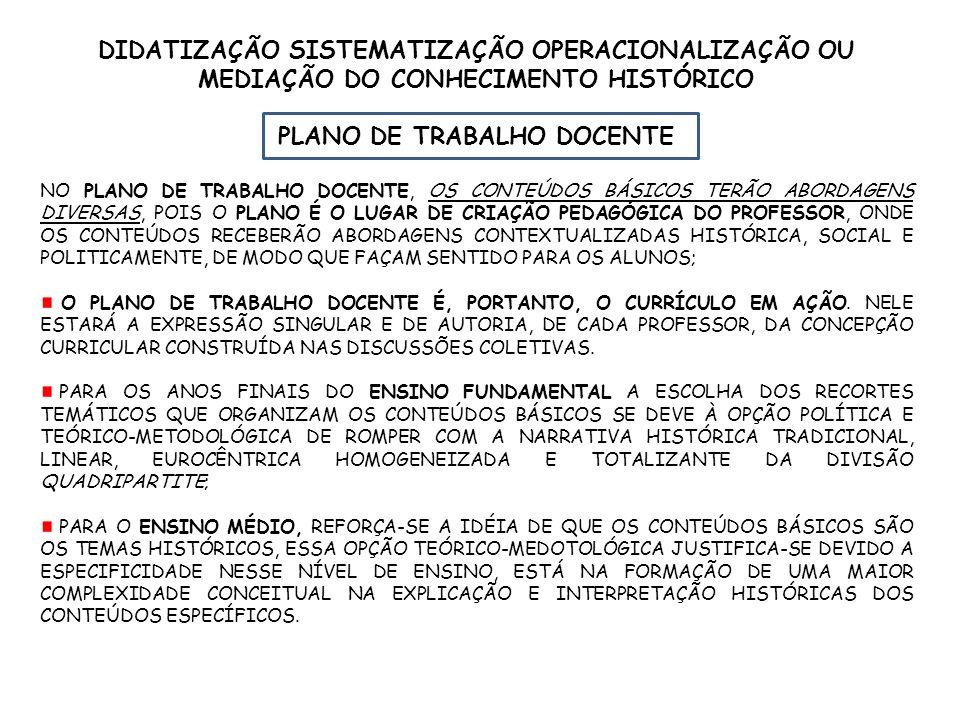 PLANO DE TRABALHO DOCENTE