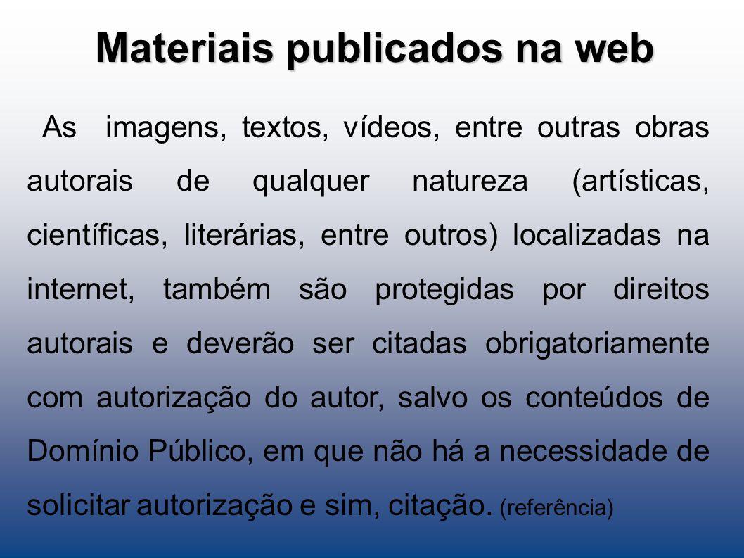 Materiais publicados na web