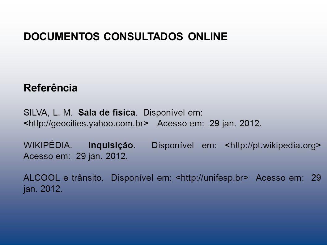 DOCUMENTOS CONSULTADOS ONLINE