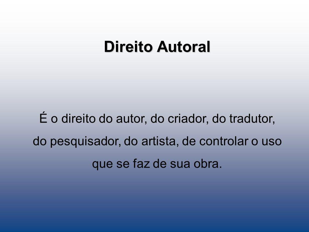 Direito Autoral É o direito do autor, do criador, do tradutor,