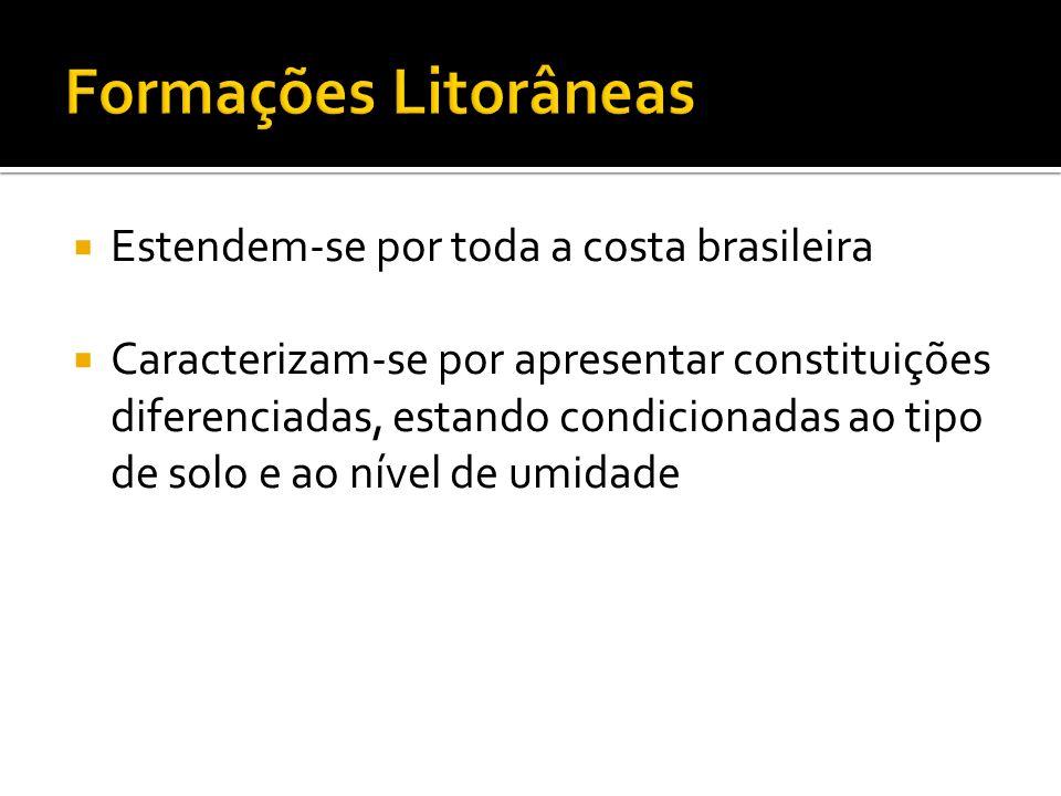 Formações Litorâneas Estendem-se por toda a costa brasileira