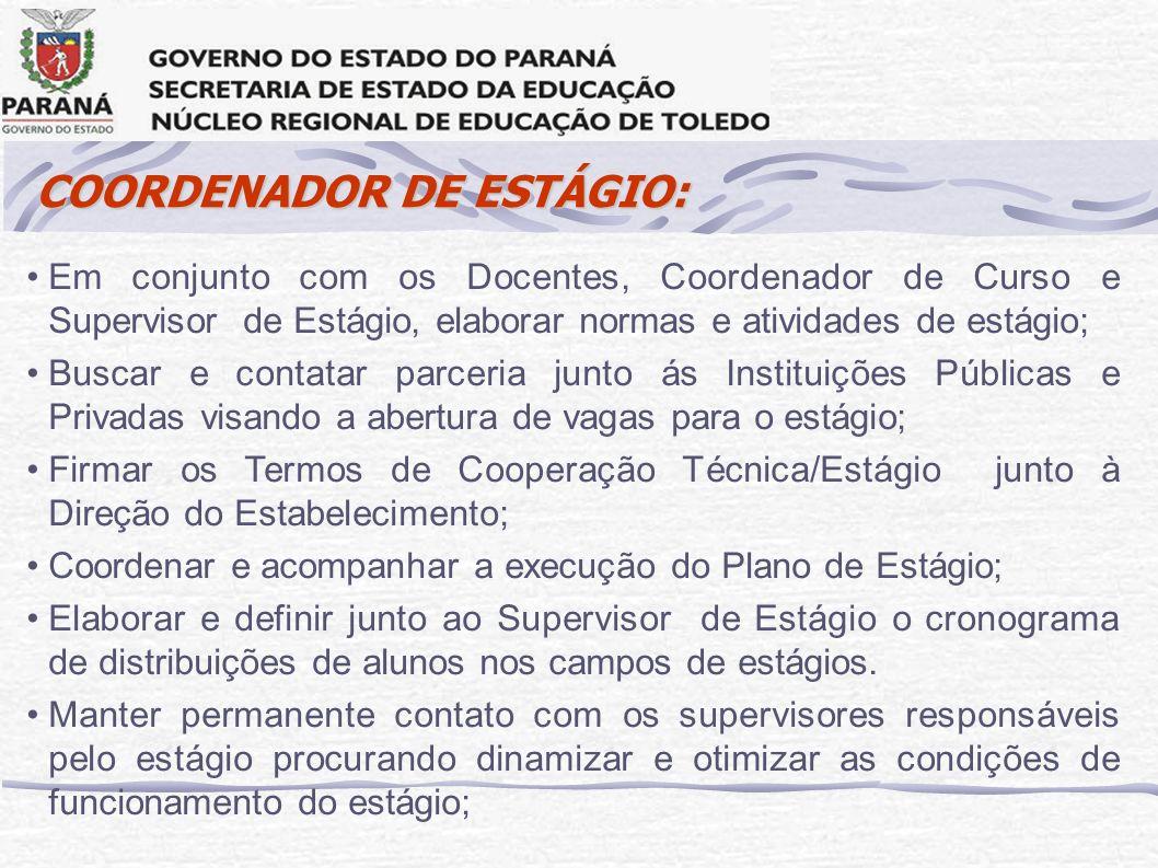 COORDENADOR DE ESTÁGIO: