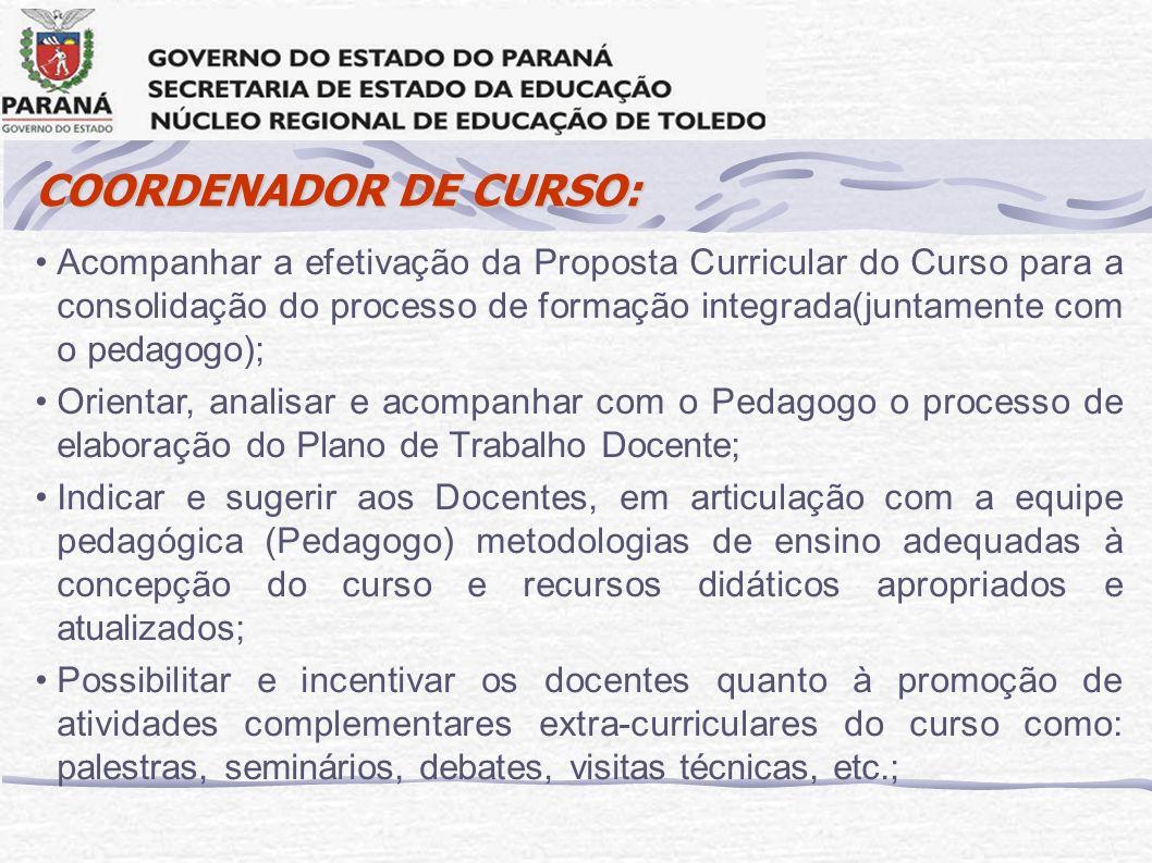 COORDENADOR DE CURSO: