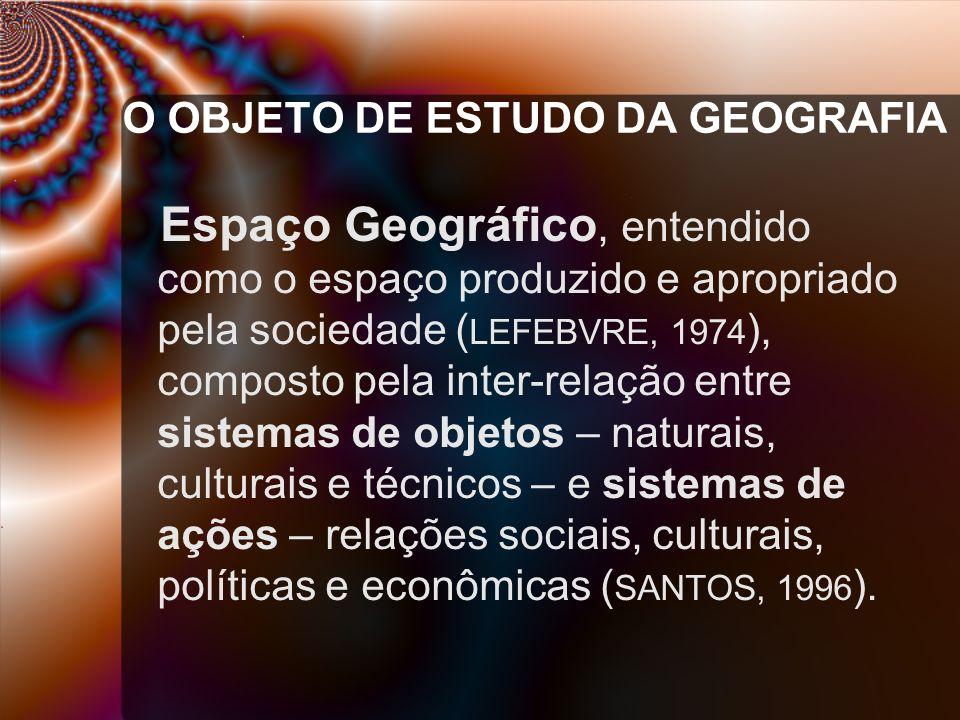 O OBJETO DE ESTUDO DA GEOGRAFIA