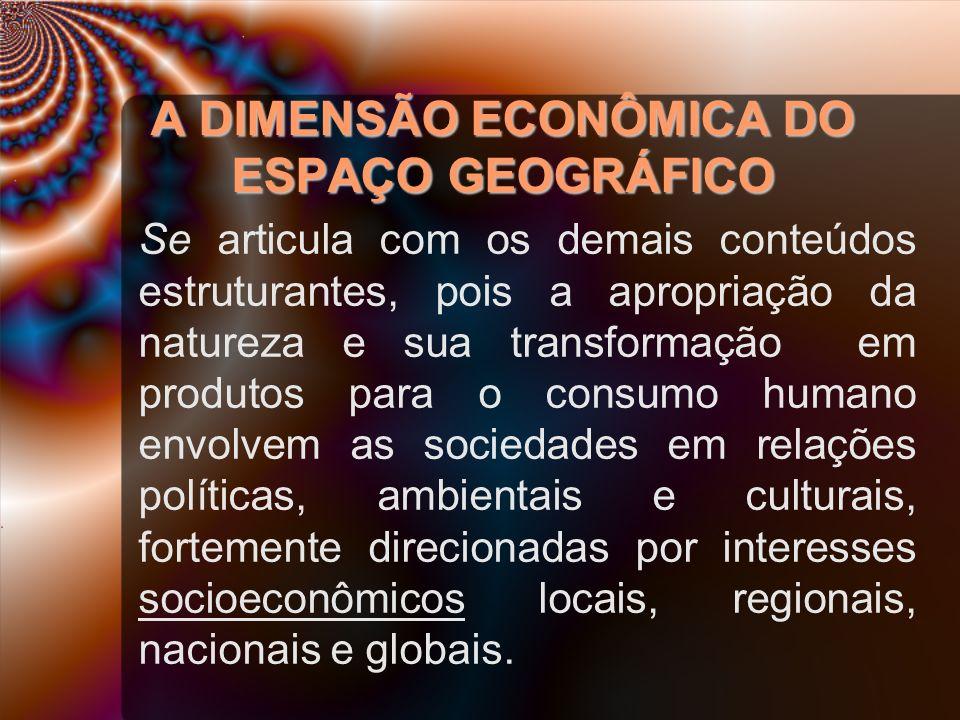 A DIMENSÃO ECONÔMICA DO ESPAÇO GEOGRÁFICO