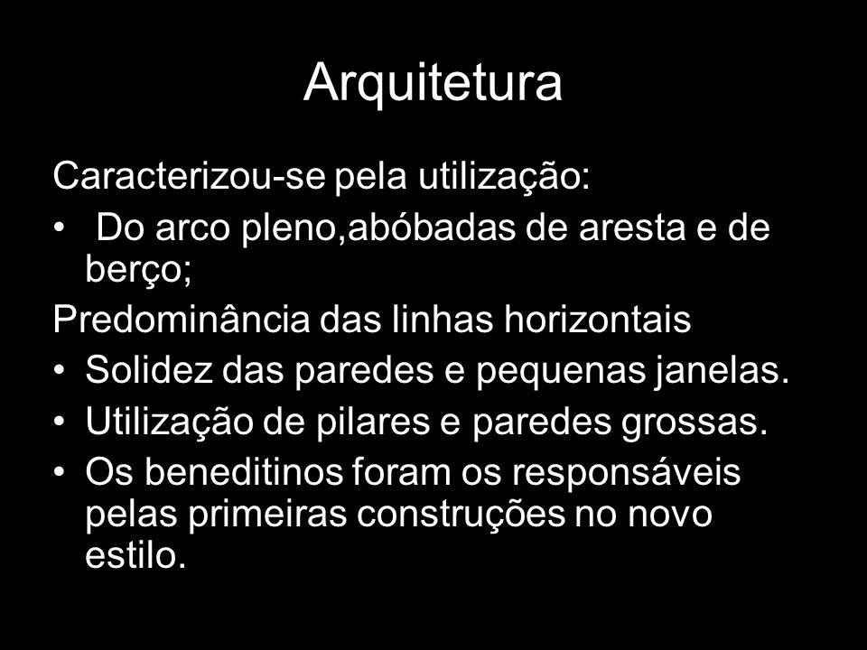 Arquitetura Caracterizou-se pela utilização: