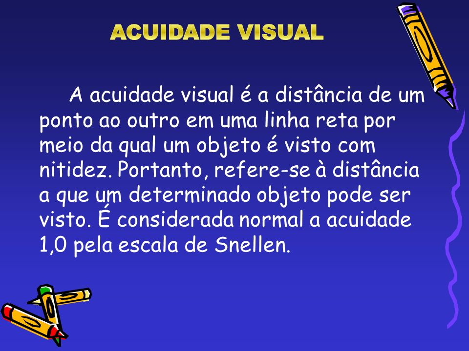ACUIDADE VISUAL