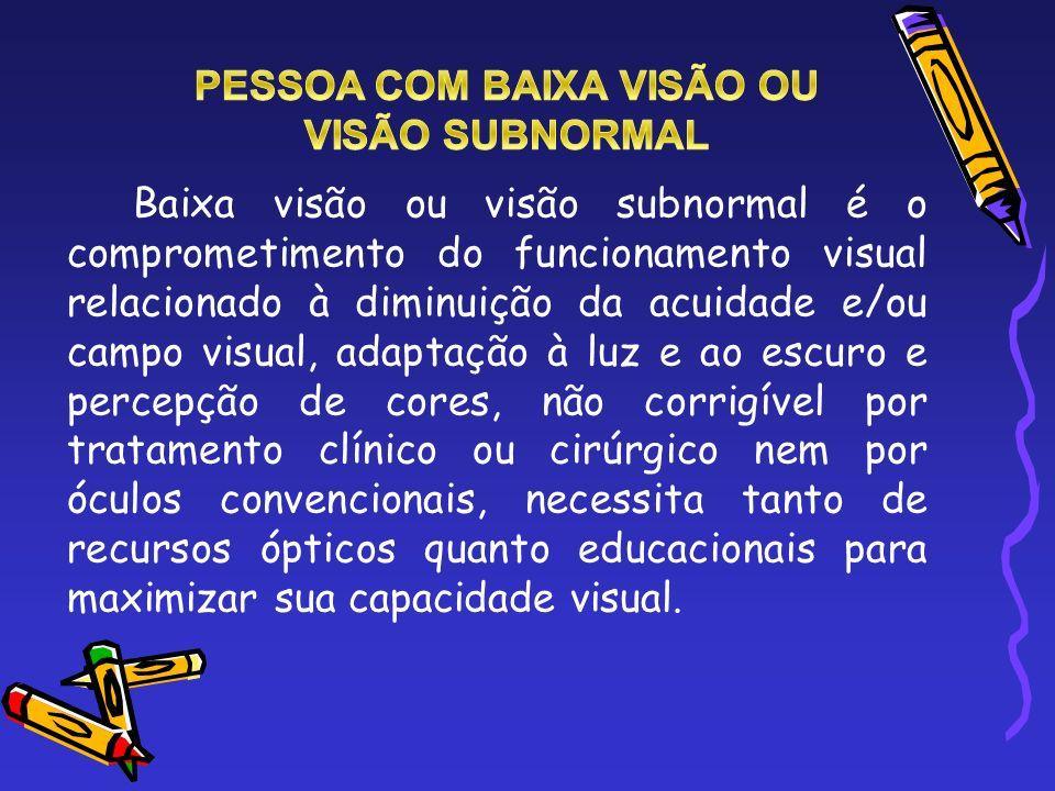 PESSOA COM BAIXA VISÃO OU
