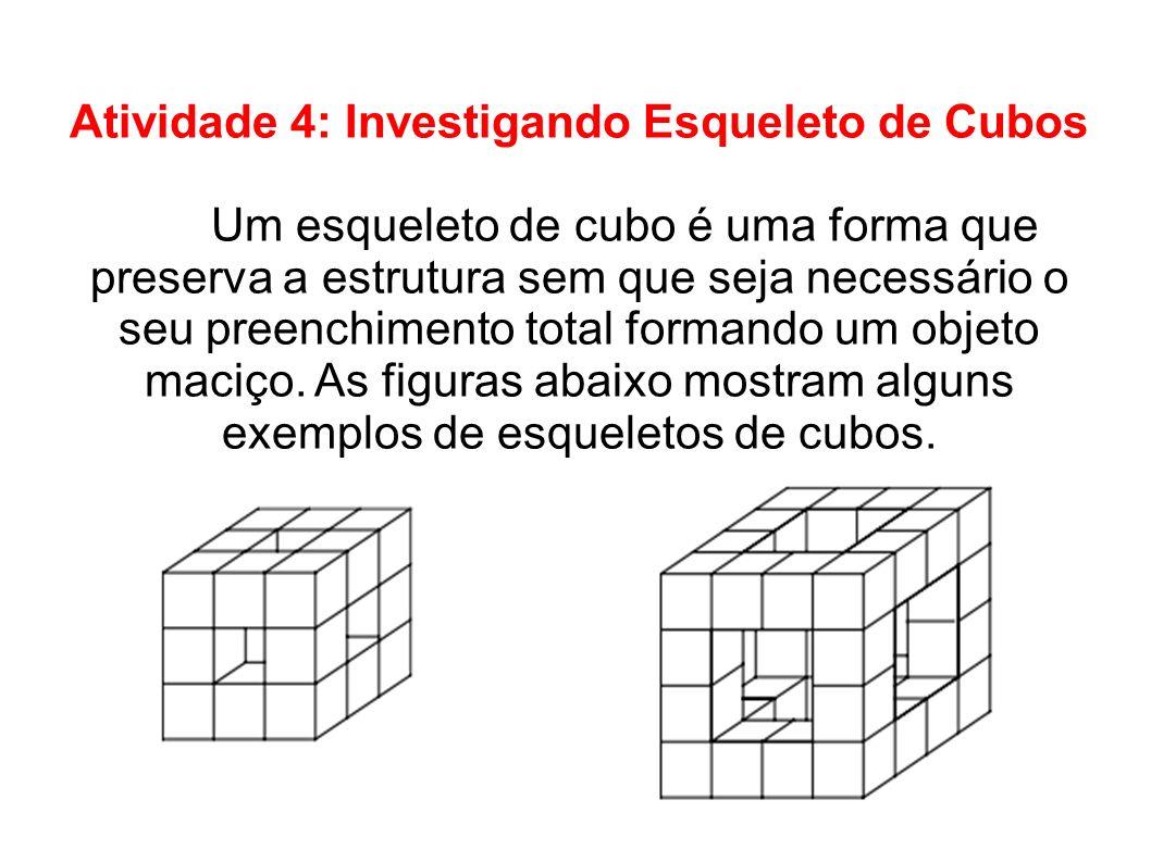 Atividade 4: Investigando Esqueleto de Cubos