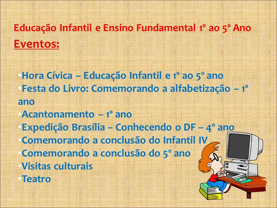 Eventos: Educação Infantil e Ensino Fundamental 1º ao 5º Ano