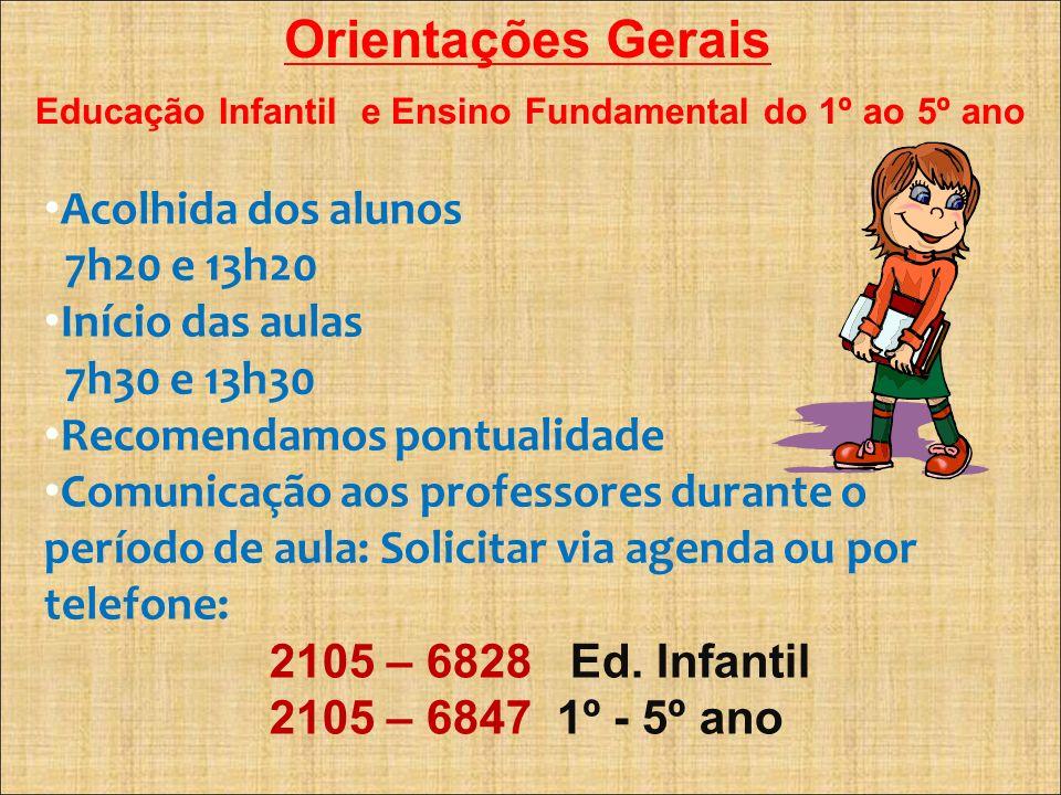 Educação Infantil e Ensino Fundamental do 1º ao 5º ano