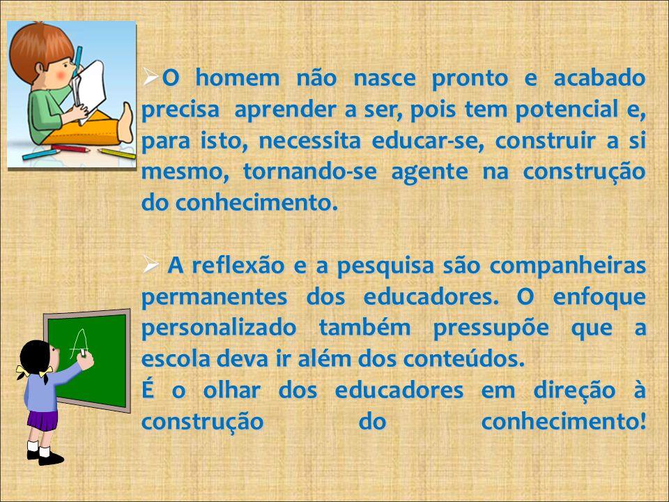 É o olhar dos educadores em direção à construção do conhecimento!