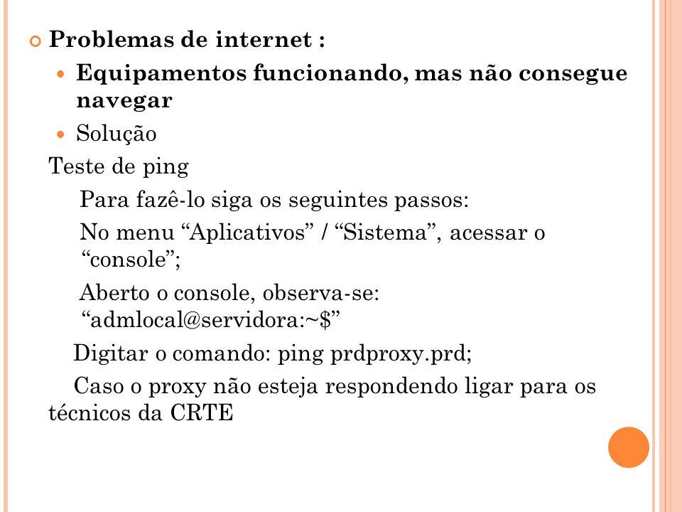 Problemas de internet :