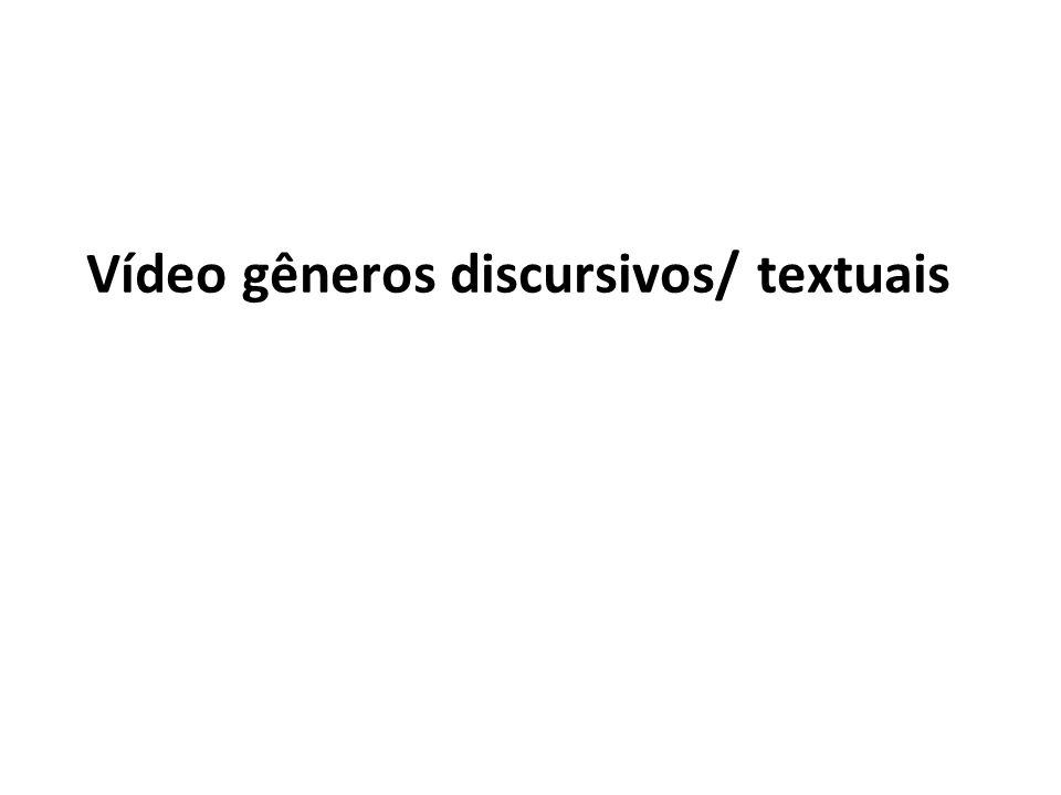 Vídeo gêneros discursivos/ textuais