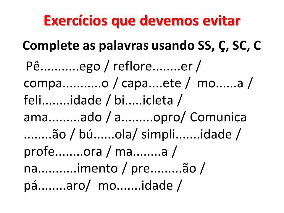 Exercícios que devemos evitar