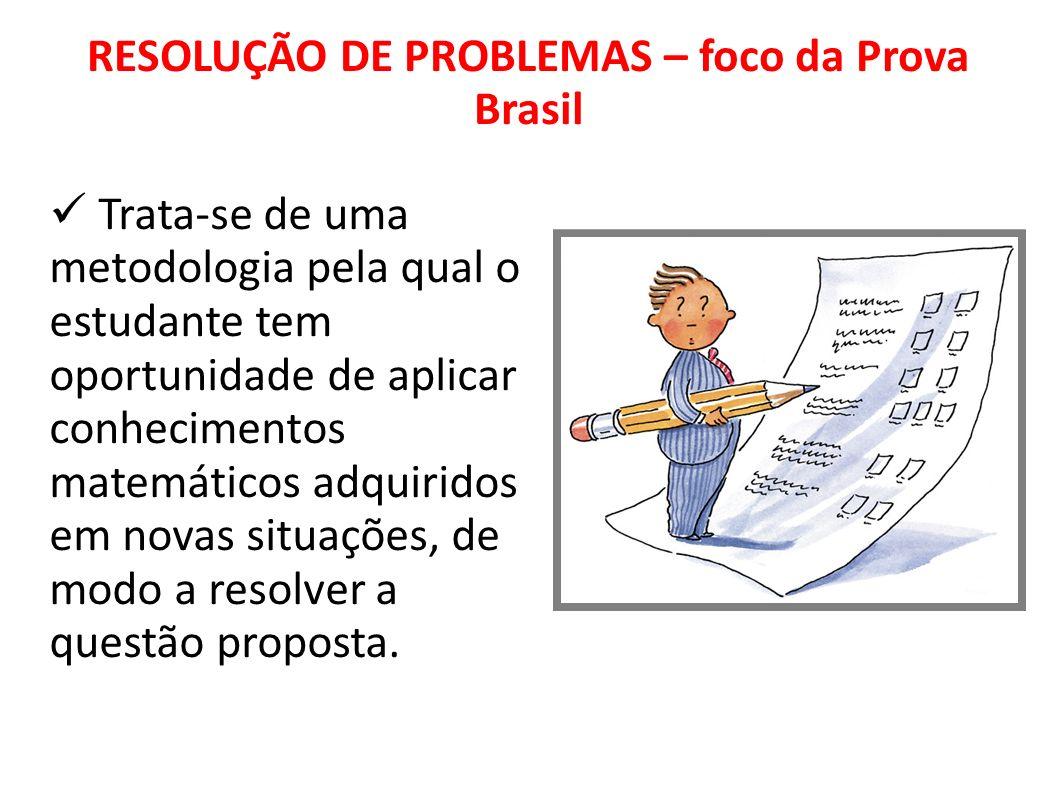 RESOLUÇÃO DE PROBLEMAS – foco da Prova Brasil
