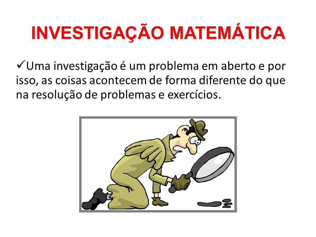 INVESTIGAÇÃO MATEMÁTICA