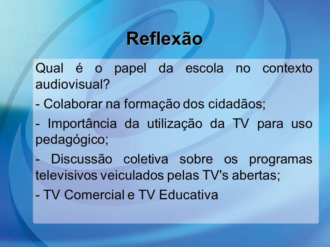 Reflexão Qual é o papel da escola no contexto audiovisual