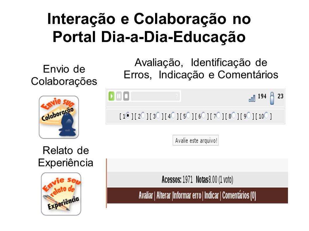Interação e Colaboração no Portal Dia-a-Dia-Educação