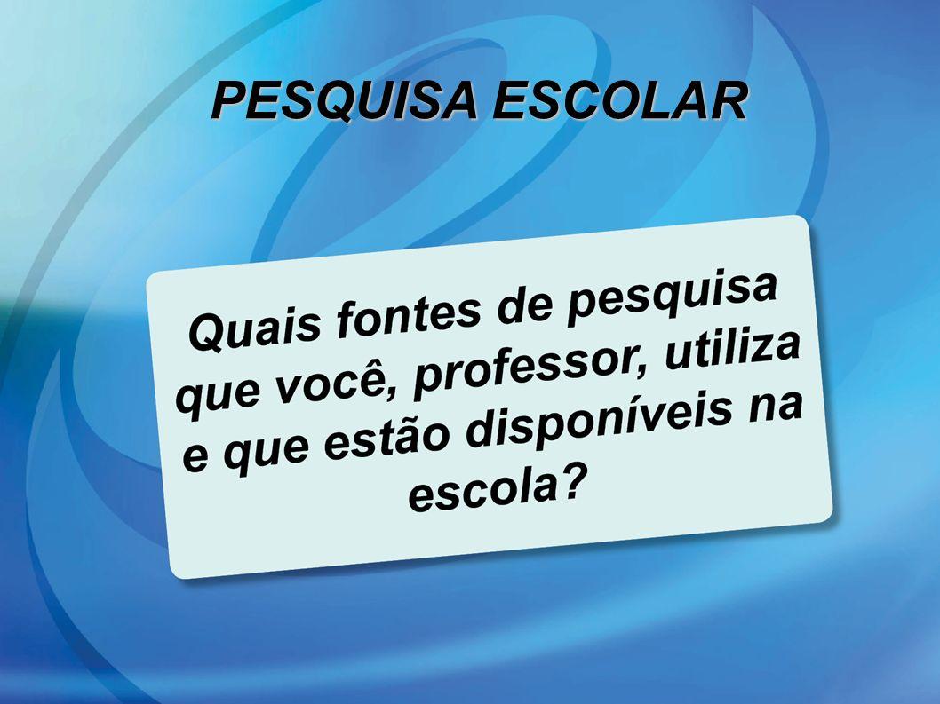 PESQUISA ESCOLAR 37 37