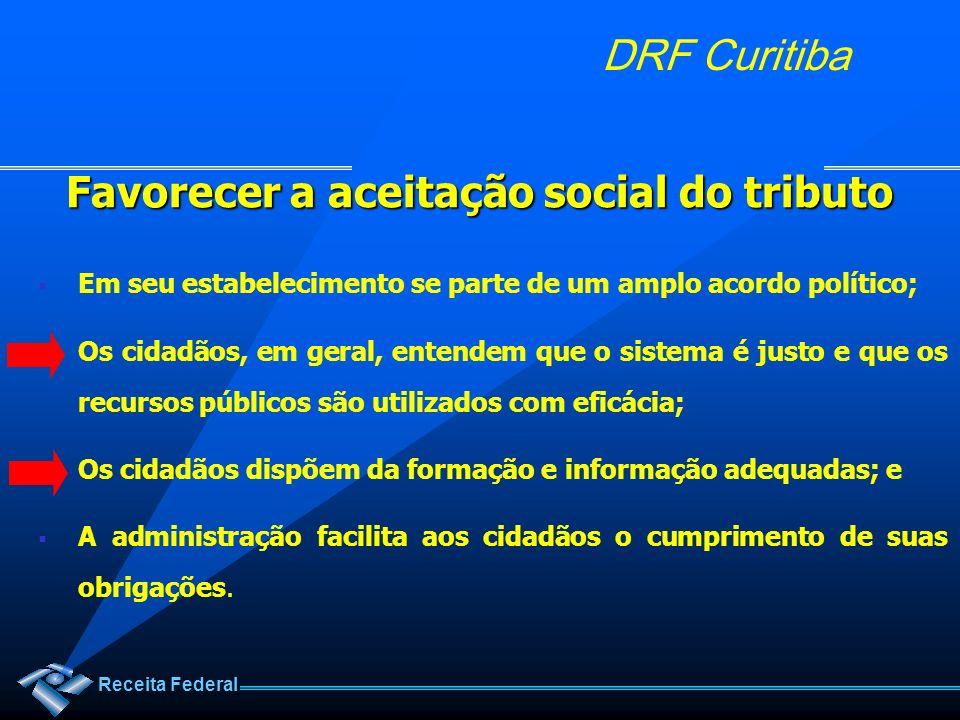 Favorecer a aceitação social do tributo