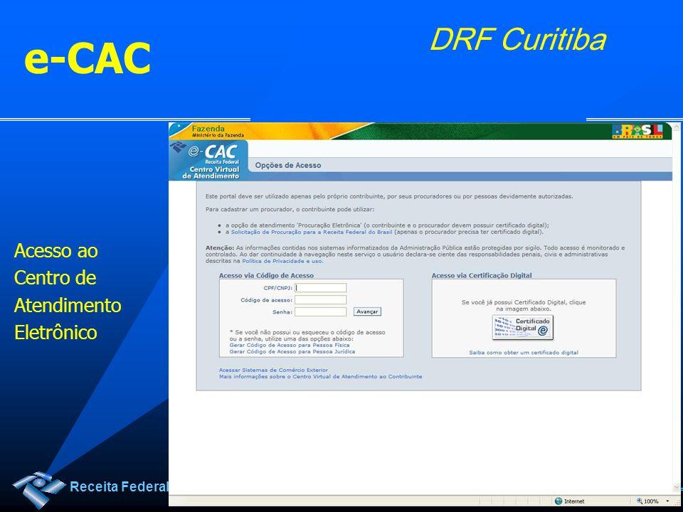 e-CAC Acesso ao Centro de Atendimento Eletrônico