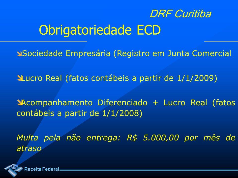 Obrigatoriedade ECD Lucro Real (fatos contábeis a partir de 1/1/2009)