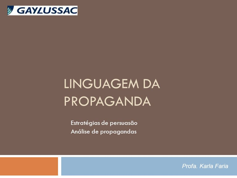 Linguagem da Propaganda
