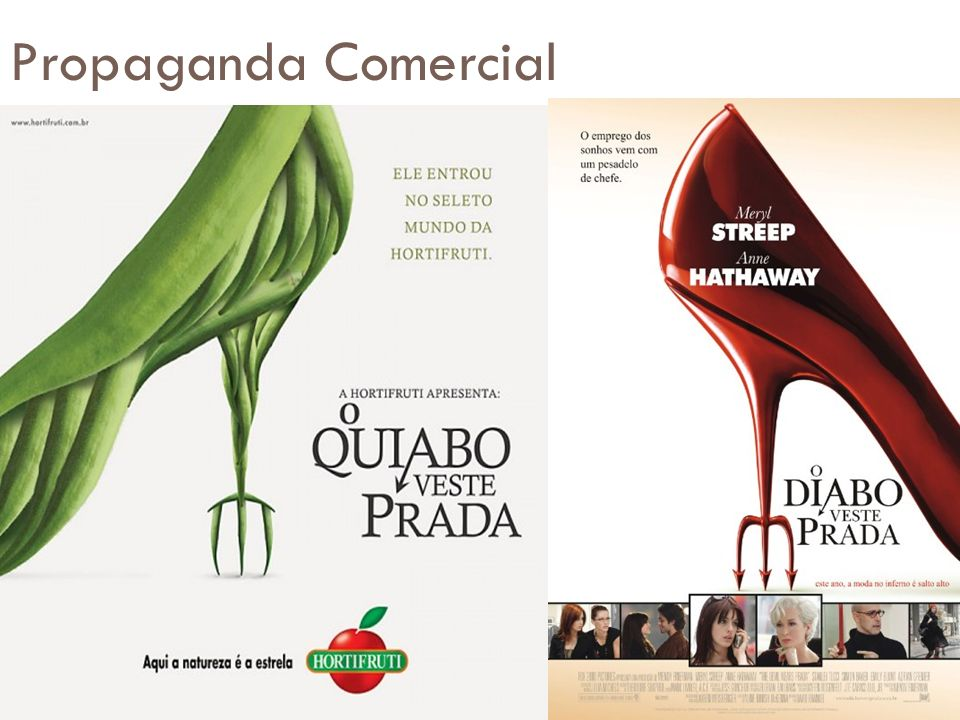 Propaganda Comercial Imagem cedida pelas alunas Beatriz Marcolino e Roberta Gama