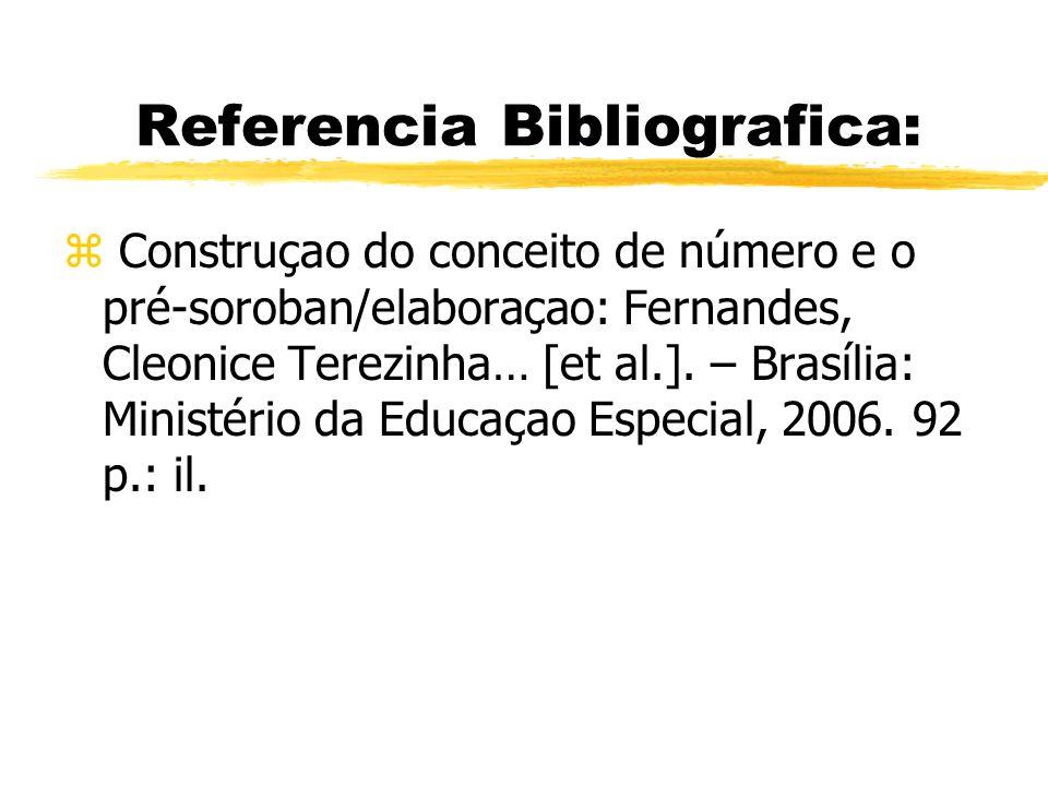 Referencia Bibliografica: