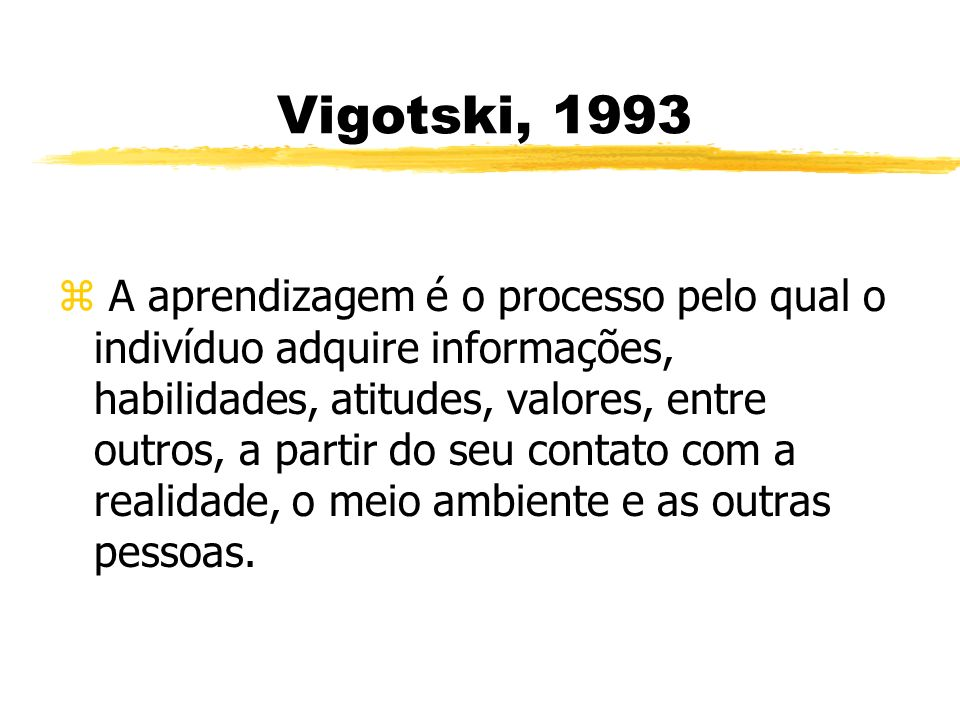Vigotski, 1993