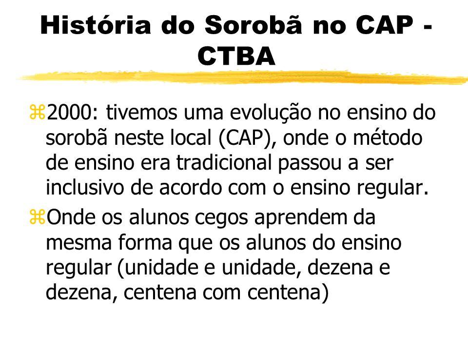 História do Sorobã no CAP - CTBA