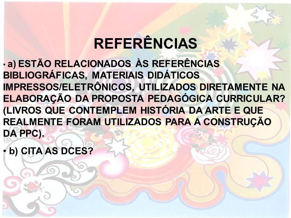 REFERÊNCIAS b) CITA AS DCES