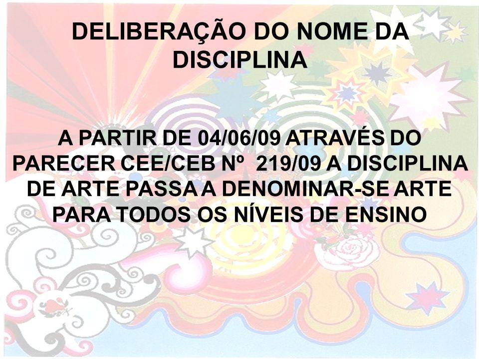 DELIBERAÇÃO DO NOME DA DISCIPLINA