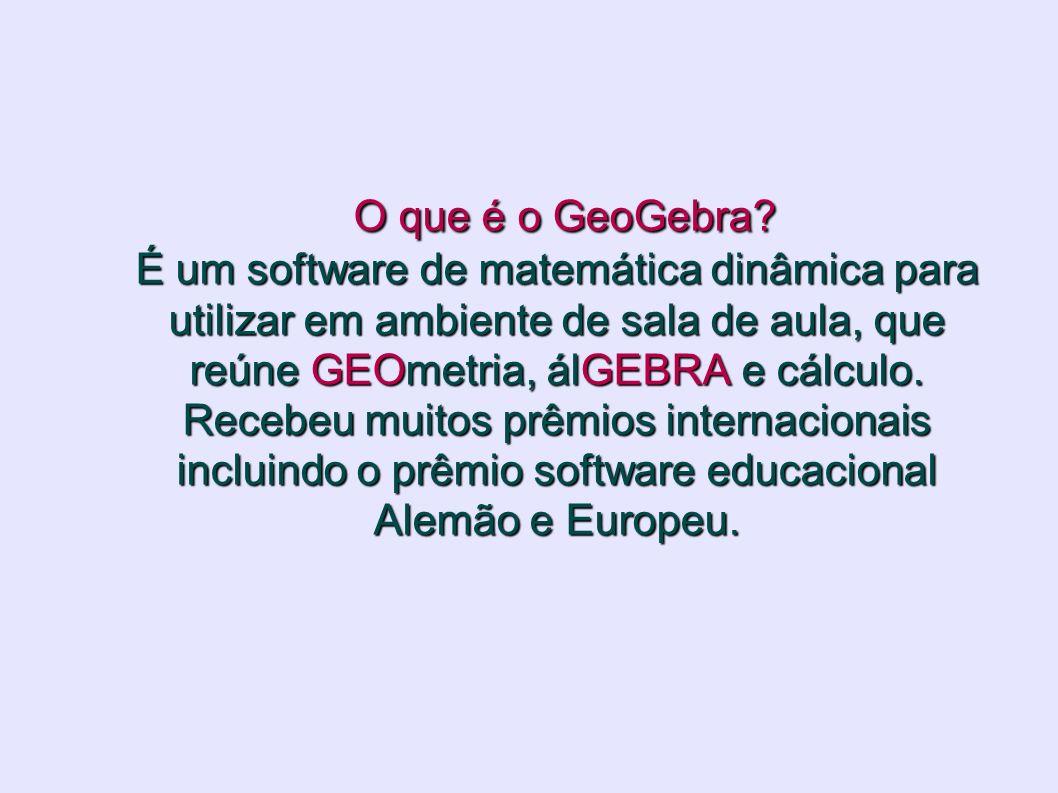 O que é o GeoGebra.