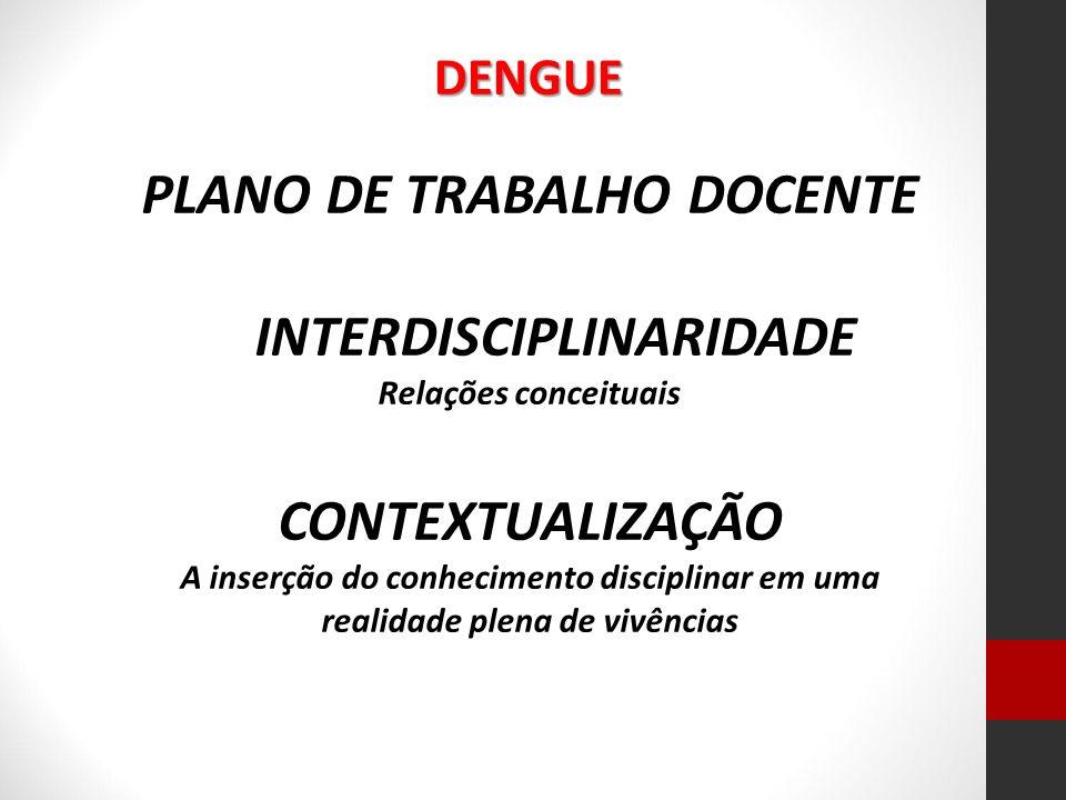 PLANO DE TRABALHO DOCENTE INTERDISCIPLINARIDADE
