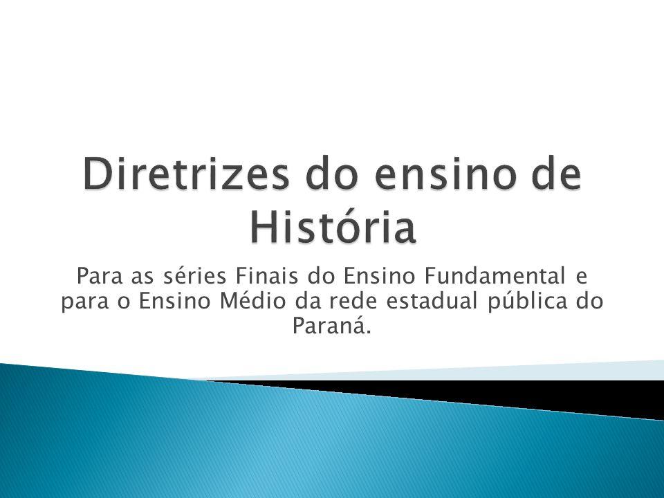 Diretrizes do ensino de História