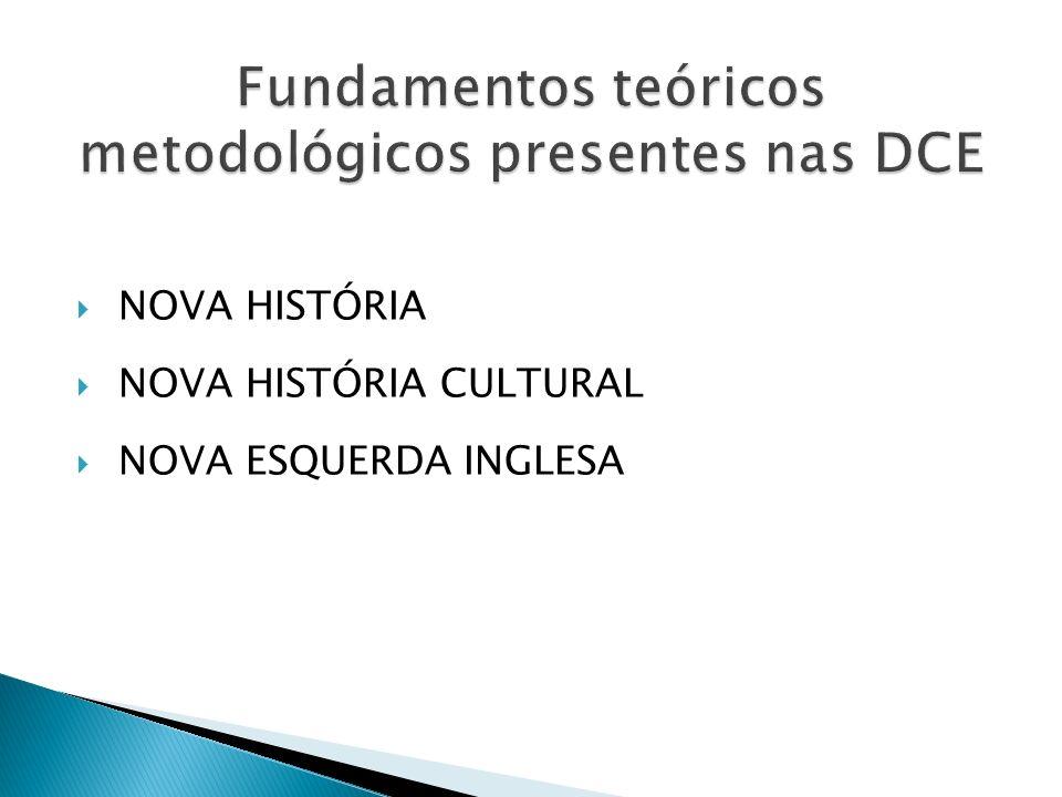 Fundamentos teóricos metodológicos presentes nas DCE
