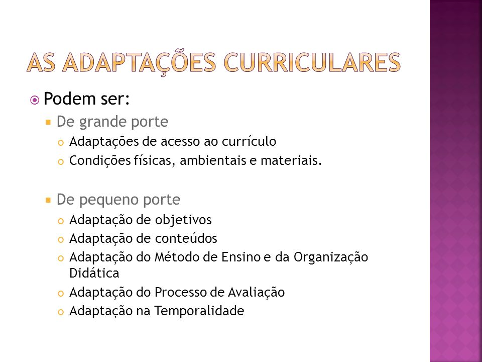 As adaptações curriculares