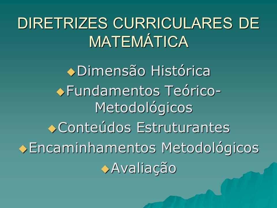 DIRETRIZES CURRICULARES DE MATEMÁTICA