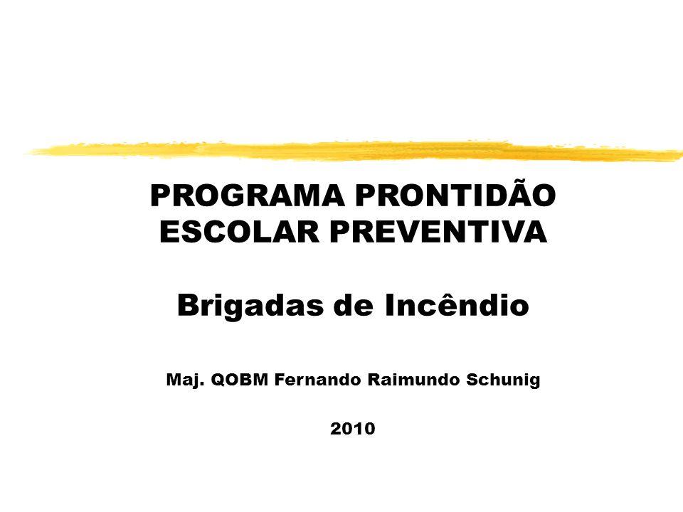 PROGRAMA PRONTIDÃO ESCOLAR PREVENTIVA Brigadas de Incêndio