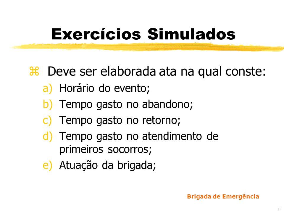 Exercícios Simulados Deve ser elaborada ata na qual conste: