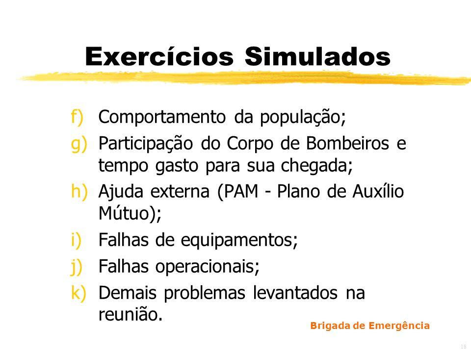 Exercícios Simulados Comportamento da população;