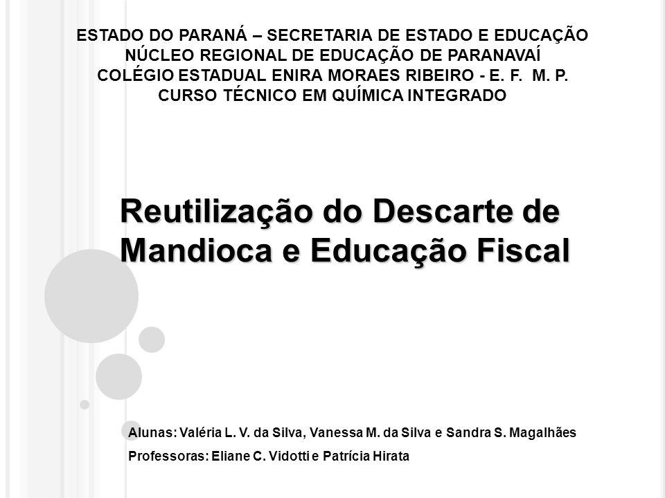 Reutilização do Descarte de Mandioca e Educação Fiscal