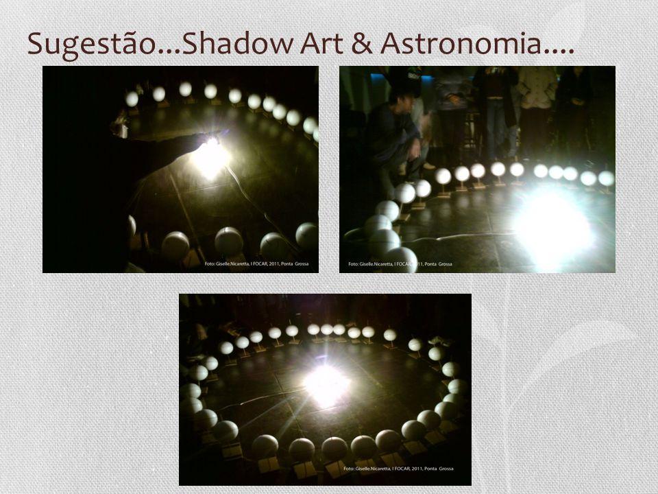 Sugestão...Shadow Art & Astronomia....