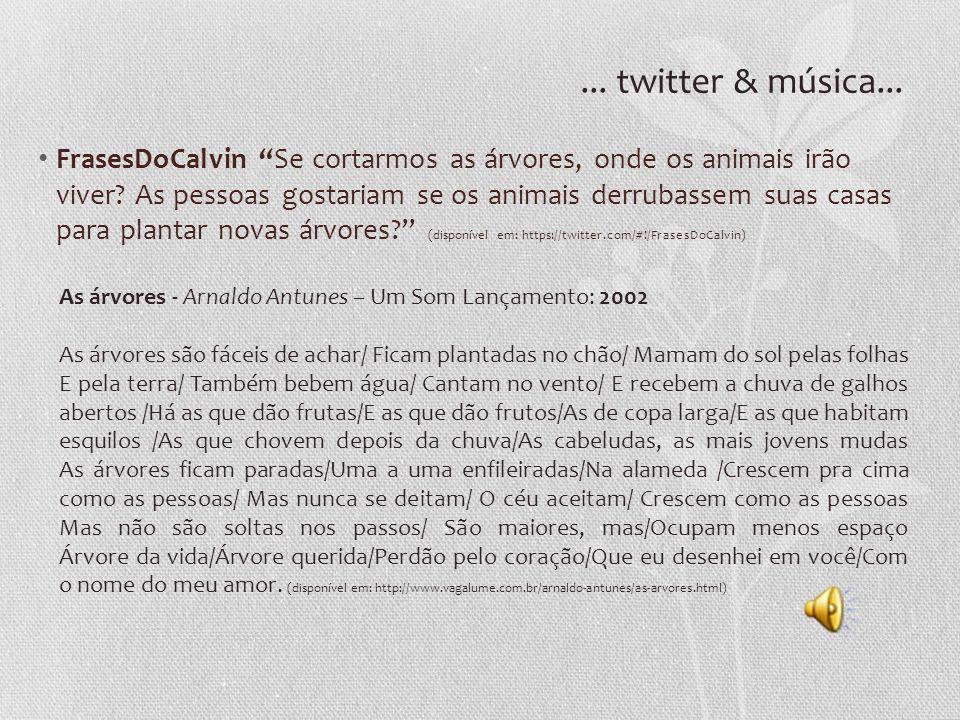 ... twitter & música...